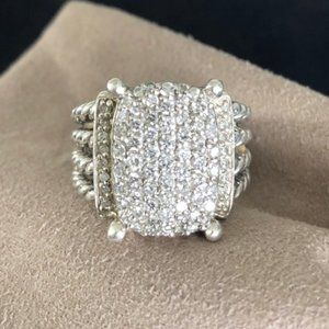 David Yurman Diamond Wheaton Ring Size 7.5